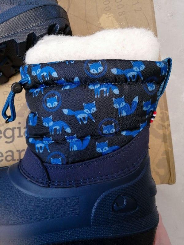 Сапоги Viking Snowfall Fox купить в синем цвете с лисичками (сезон 2019-2020) можно с доставкой по России