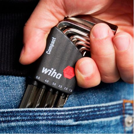 Набор шестигранников wiha Compact Hex Wrench (9 шт) удобный органайзер