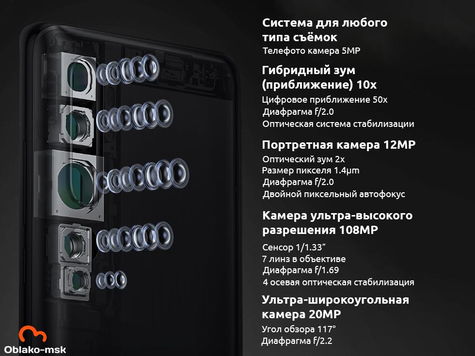 Смартфон Xiaomi Mi Note 10 6/128GB Black EU (Global Version)