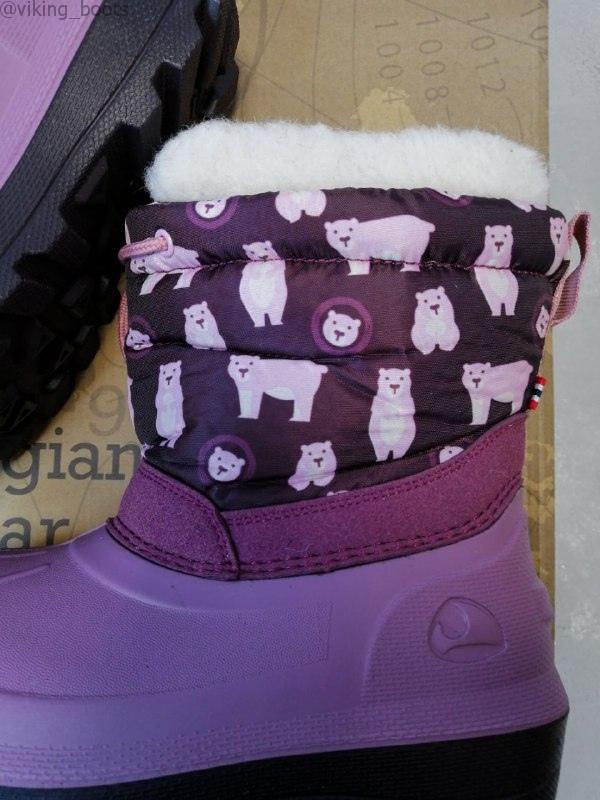 Сапоги Viking Snowfall Bear купить в розовом цвете с мишками (сезон 2019-2020) можно с доставкой по России