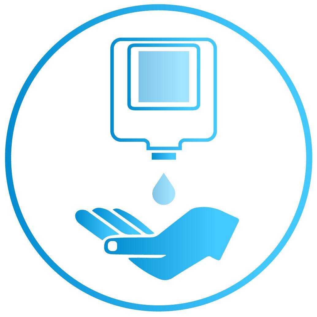 Мы оснащаем системы контроля доступа бесконтактными диспенсерами для антисептической обработки рук