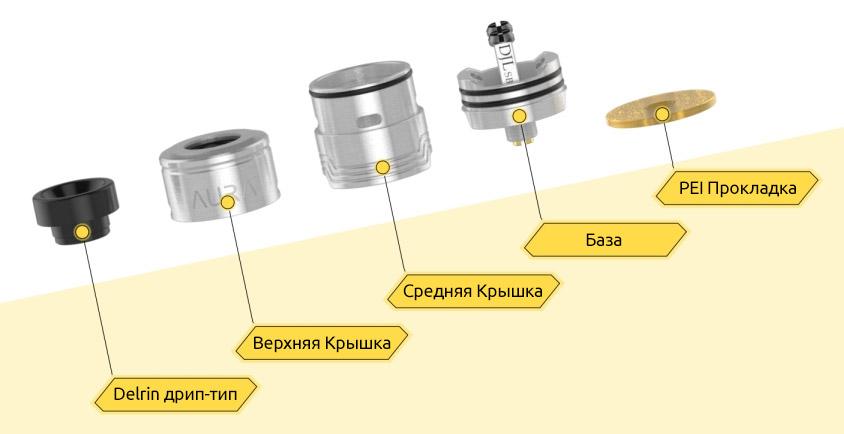 Компоненты Digiflavor AURA RDA