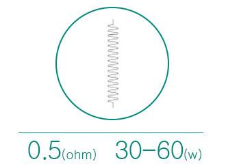 Спецификации Испарителя Eleaf EC-Ceramic 0.5ом