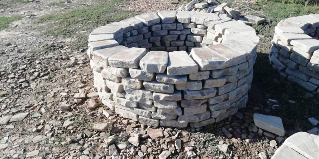 очаг кострище из камня