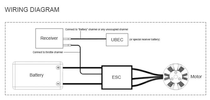 Схема подключения esc-регулятора T-Motor Flame 25A