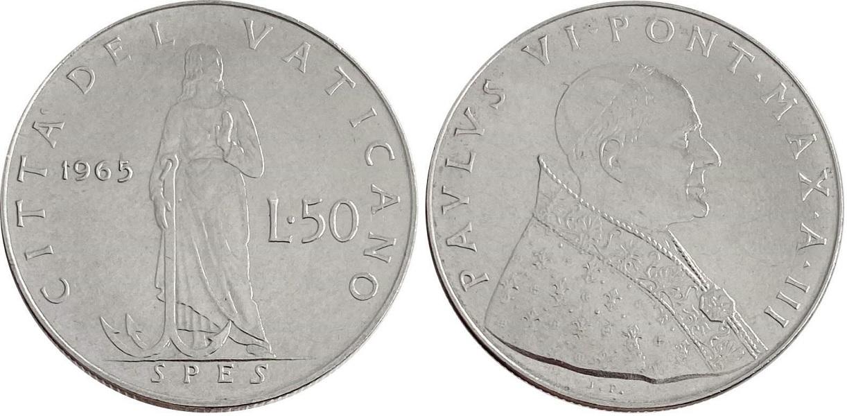 50 ватиканских лир 1965