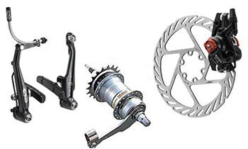 Основні типи гальм для велосипедів
