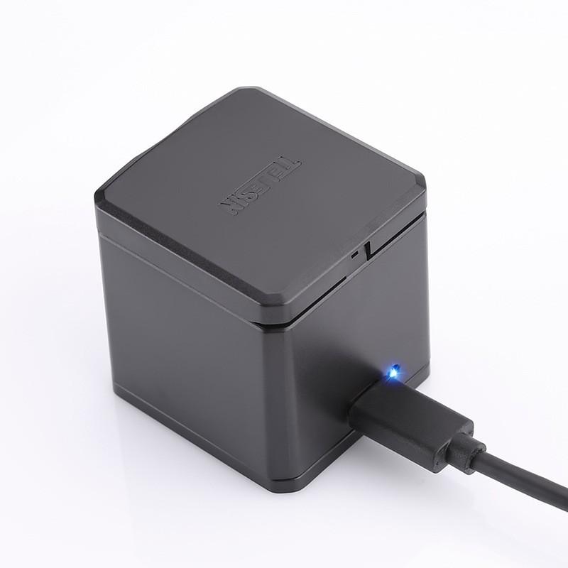 Зарядное устройство Telesin (USB) для 3-х аккумуляторов GoPro HERO5/6/7