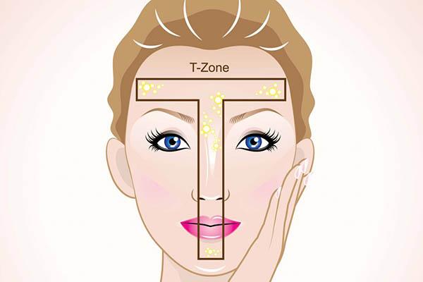 Т-зона (лоб, нос)