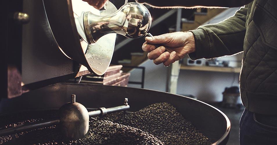 Обжарка кофе на барабанном ростере
