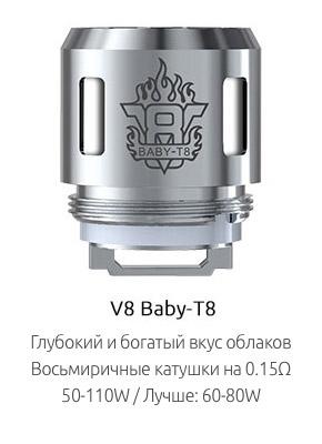 Испаритель SMOK V8 Baby-T8 0.15ом