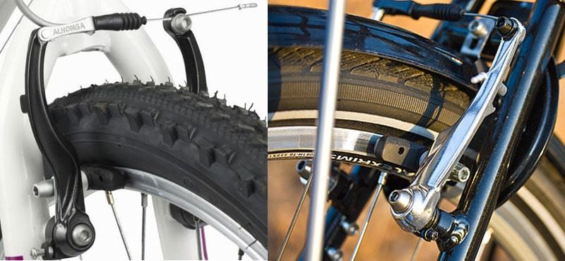 Повреждение покрышки V-brake тормозами
