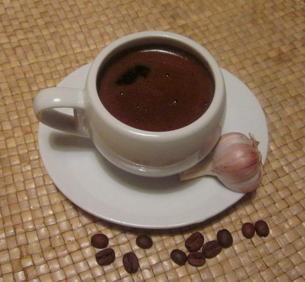 фото кофе с чесноком