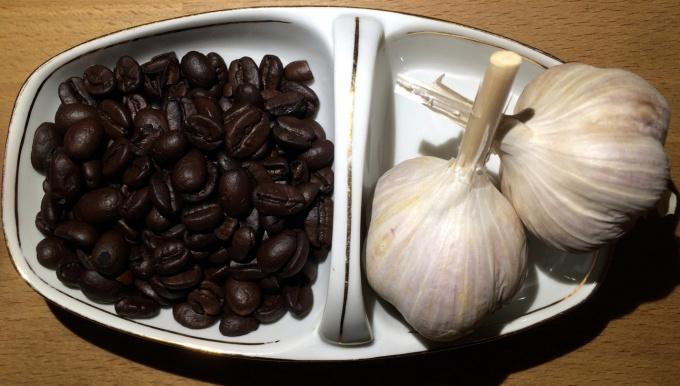 приготолвение кофе с чесноком фото