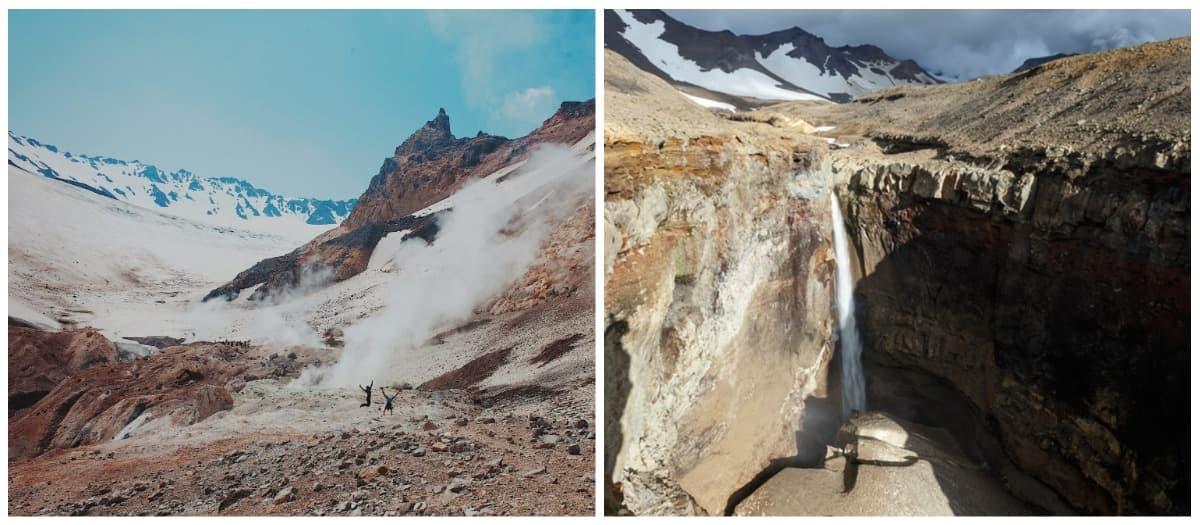 Вулкан Мутновский, водопад Опасный
