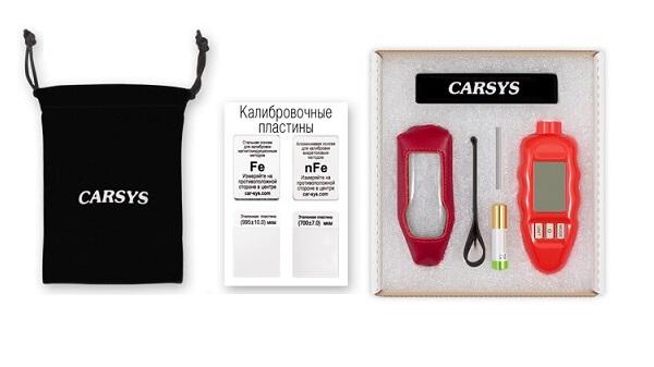 Комплектация толщиномера для краски Carsys DPM816 с поворкой