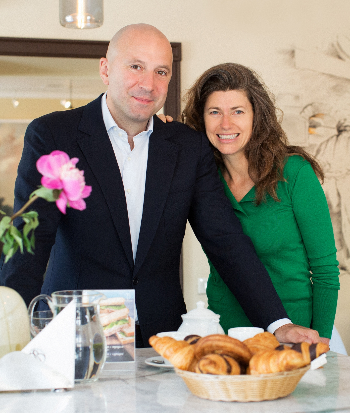 Александр Гарез (Alexandre Garese) с супругой фото