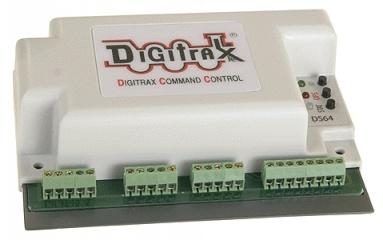 МНОГОФУНКЦИОНАЛЬНЫЙ 4-КАНАЛЬНЫЙ СТАЦИОНАРНЫЙ ДЕКОДЕР DIGITRAX DS64