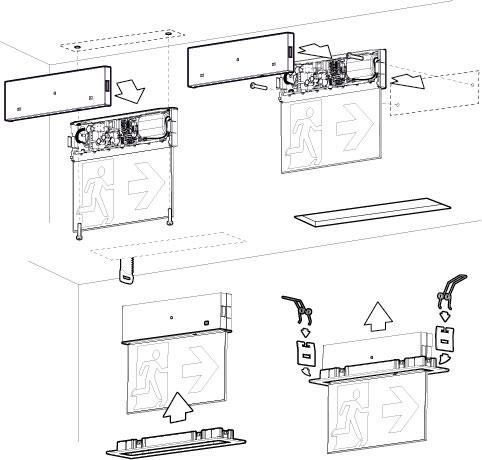 Схема монтажа светового указателя ONTEC-G с рамкой