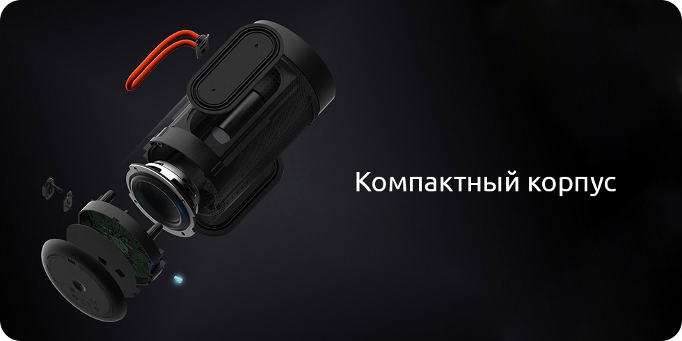 Колонка Xiaomi Mi Outdoor Bluetooth Speaker (черный)