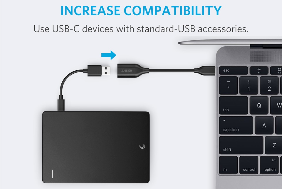 Anker PowerLine USB-C to USB-A 3.1 Gen 1 Female