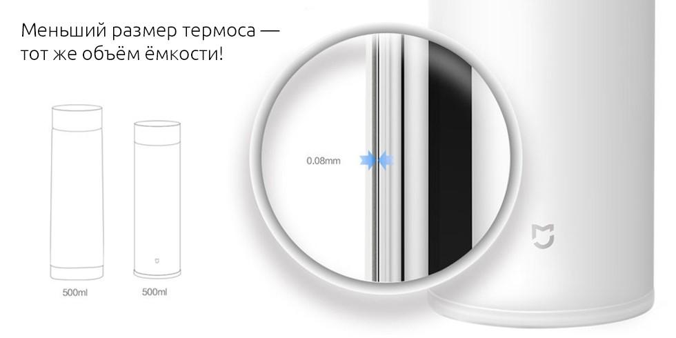 Термос Xiaomi Mijia Mi Vacuum Flask (500 мл, белый)