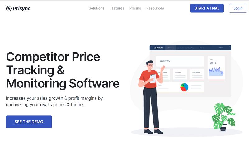 Англоязычный сервис для мониторинга цен Prisync