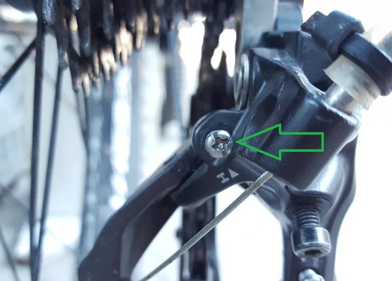 Регулировка H на заднем переключателе