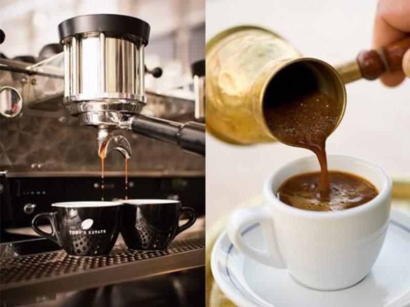 приготолвение кофе эспрессо фото