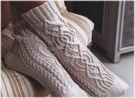Вязание носков  из пряжи