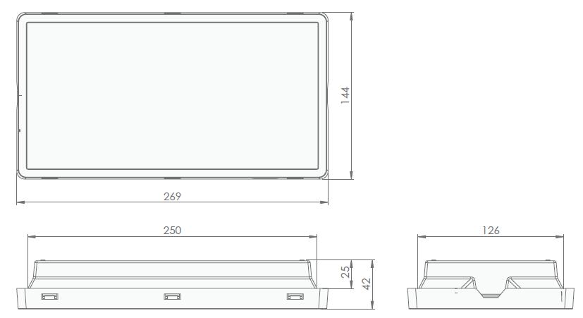 Размеры светодиодного светового указателя серии Vella LED eco SO IP65 Intelight