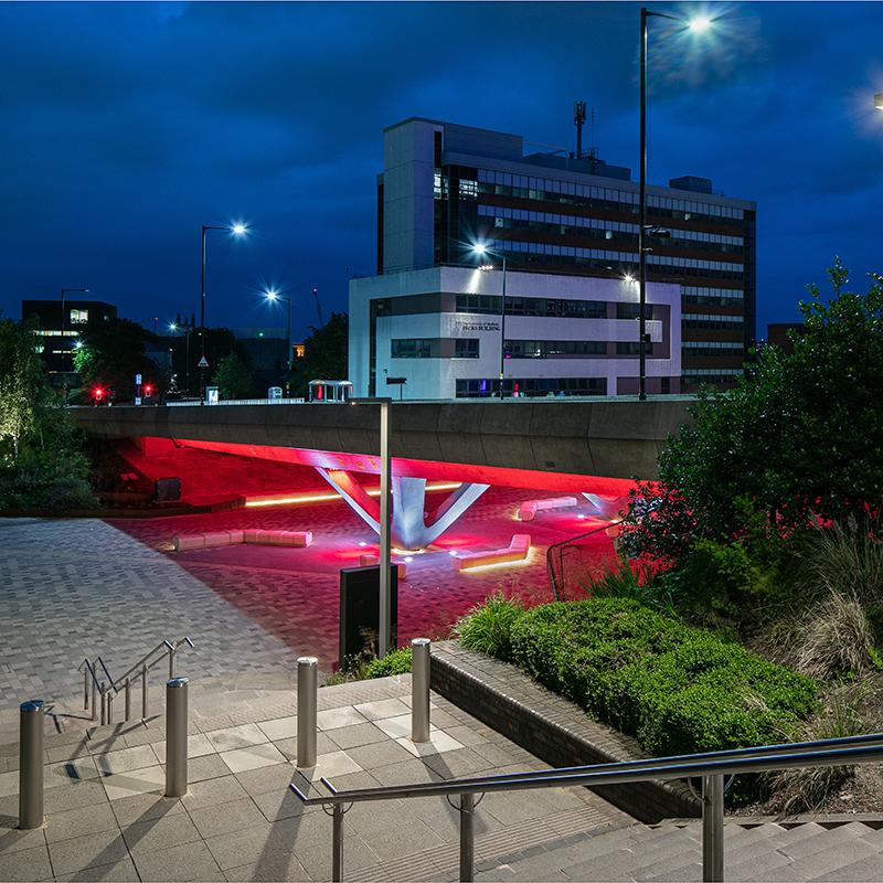 Световой проект Sheffield University от Arup UK