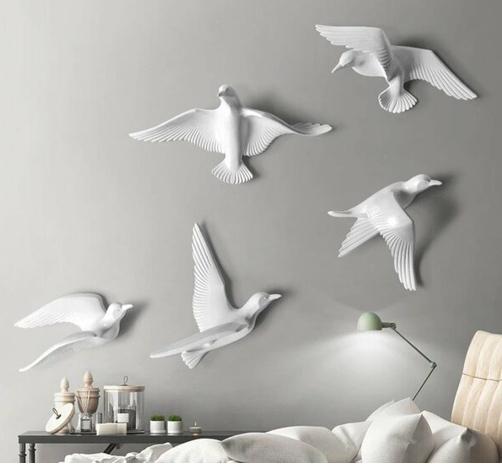 объемные фигурки на стену птицы