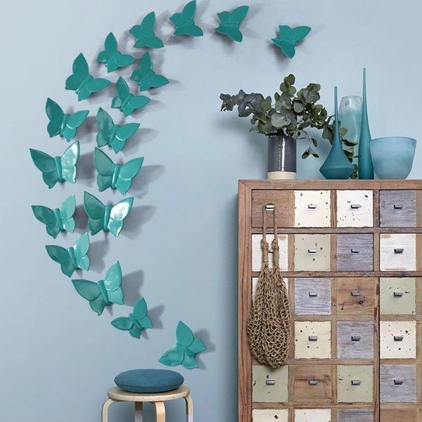 декор на стену бабочки
