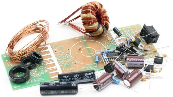 Радиоконструктор RP032. Импульсный повышающий (12 В - ±35 В) двухполярный автомобильный DC-DC преобразователь напряжения