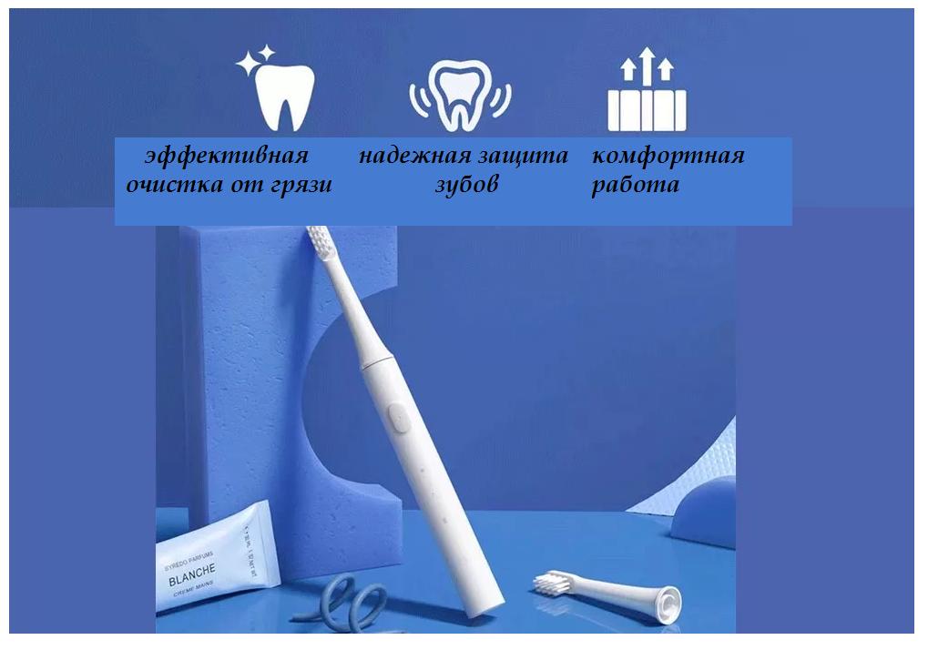 Электрическая зубная щетка Xiaomi Mijia Sonic Electric Toothbrush T100 (белая) защита от грязи