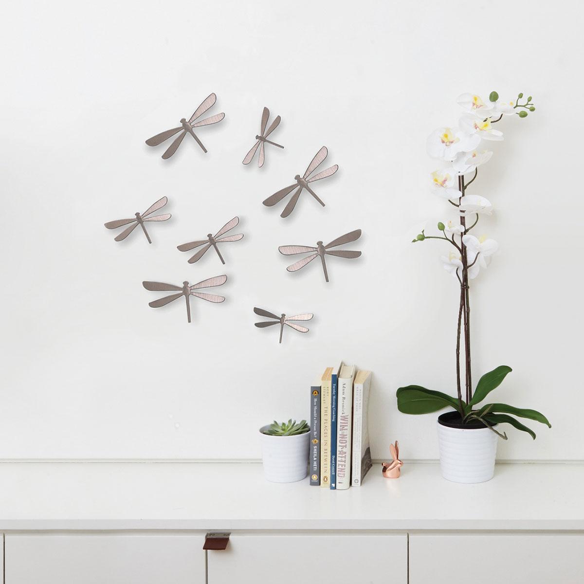 декор на стену стрекозы