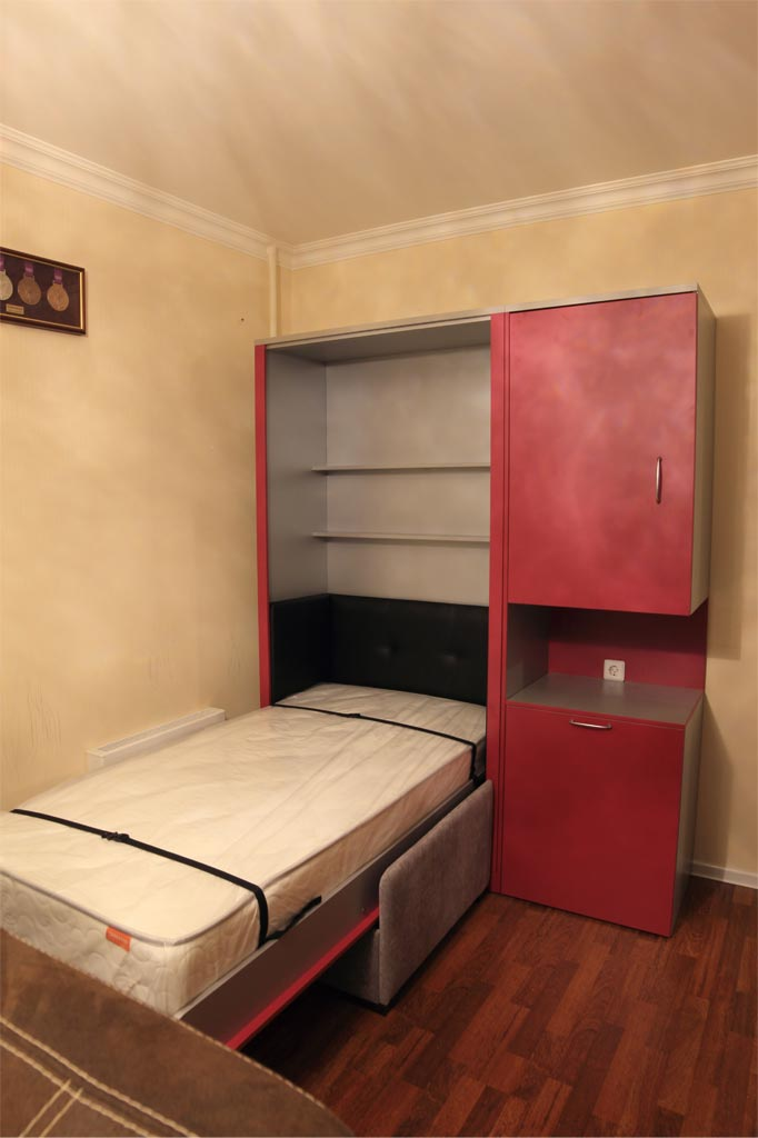 Шкаф-кровать Виктория с софой и столом-трансформером