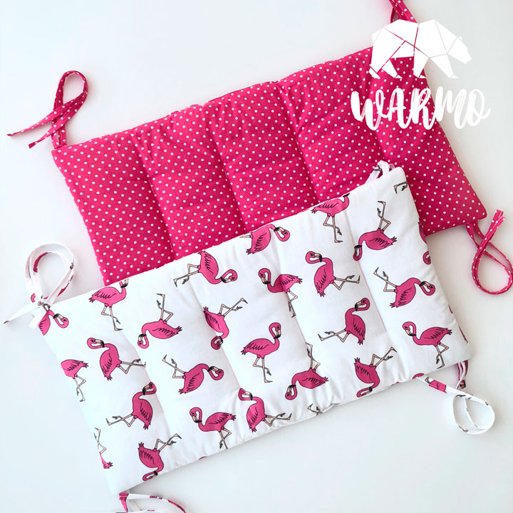 бортики в кроватку з рожевими фламінго фото