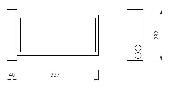 Размеры светового указателя направления эвакуации Infinity II AW Awex