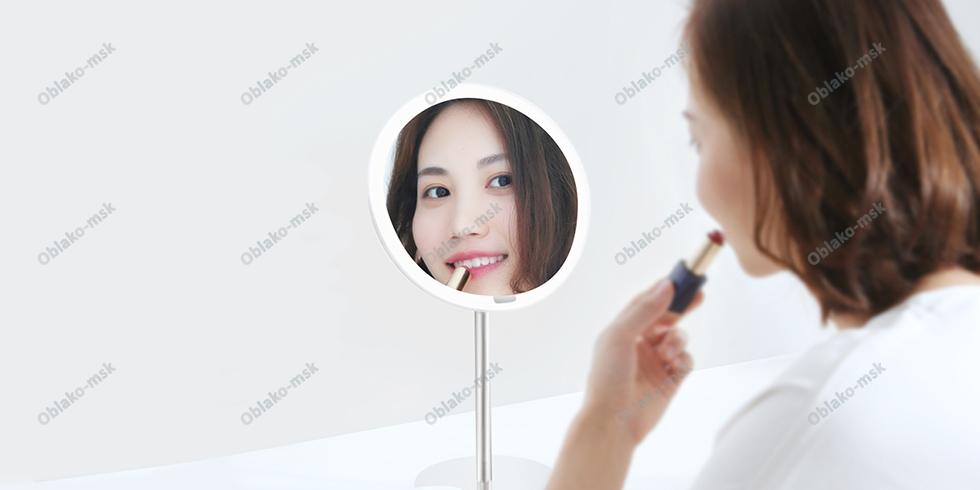 Зеркало косметическое настольное Xiaomi Yeelight LED Lighting Mirror с подсветкой (YLGJ01YL) RU EAC