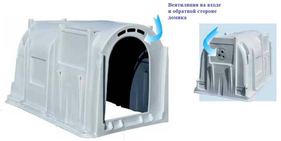 Вентиляция домика для телят