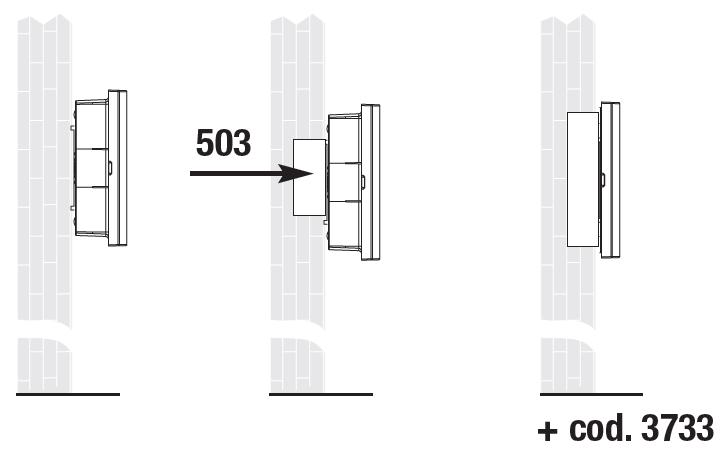 Варианты монтажа на стену светодиодных светильников аварийного освещения Aestetica LED