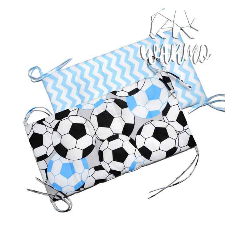 бортики в кроватку з футбольними м'ячами фото