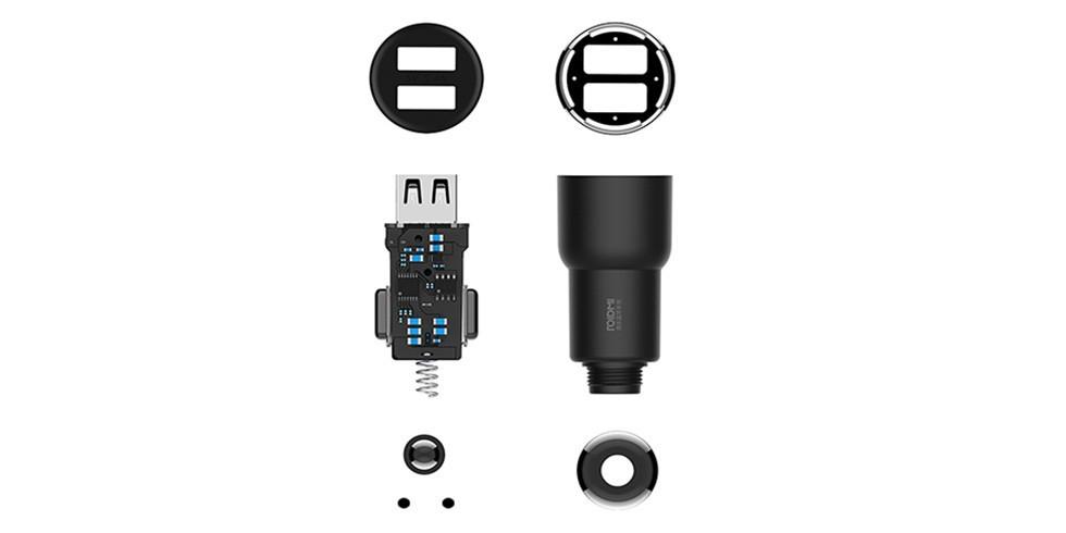 Автомобильная зарядка Xiaomi RoidMi 3s (черный)