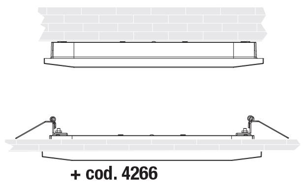 Варианты монтажа к потолку светодиодных светильников аварийного освещения Aestetica LED