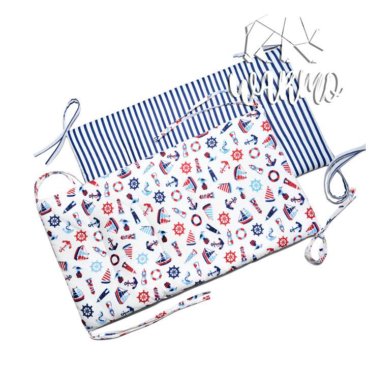 бортики в кроватку з морською тематикою фото