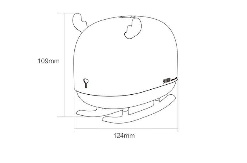 Увлажнитель воздуха Sothing Deer Humidifier&Light (White) размеры