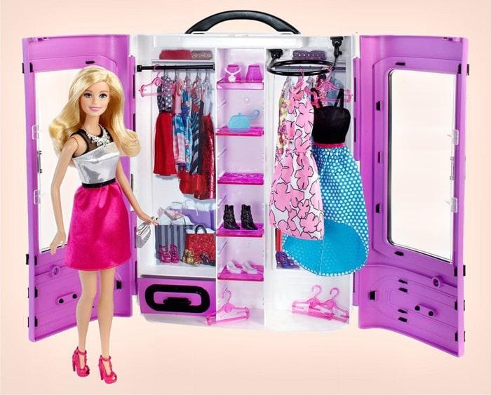 Упаковочный набор - розовый шкаф для Барби