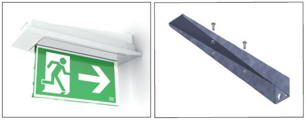 Комплектующие для настенного монтажа светодиодного светильника аварийного освещения Aestetica LED